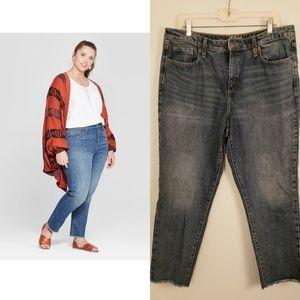 Universal thread frayed hem jeans